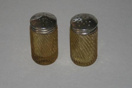 Vintage Orange Glass Salt and Pepper Shakers
