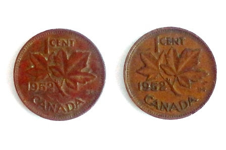 1952 Canada One Cent Red