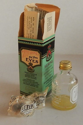 Vintage Murine Eye Drops Glass Bottle w Box