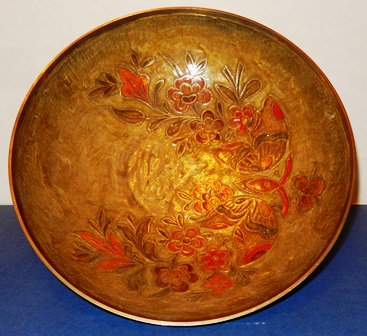 Brass Enameled Bowl
