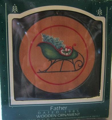 HALLMARK ORNAMENT 1985 FATHER-WOOD-