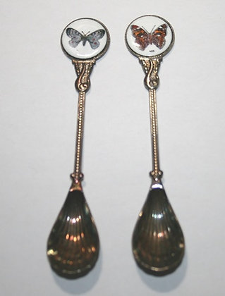 2 Butterfly Souvenir Collector Spoons