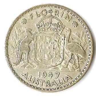 1947 Australian Silver Florin