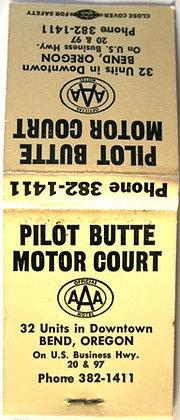 PILOT BUTTE MOTOR COURT BEND OREGON Matchbook
