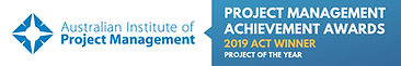 AIPM - 2019 ACT Project of the Year Logo