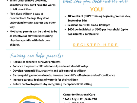 Child-Parent-Relationship Therapy (CPRT) Training