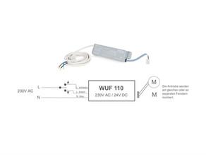230V Ansteuerungsmodul für 24V Antriebe max. 1 Amp.