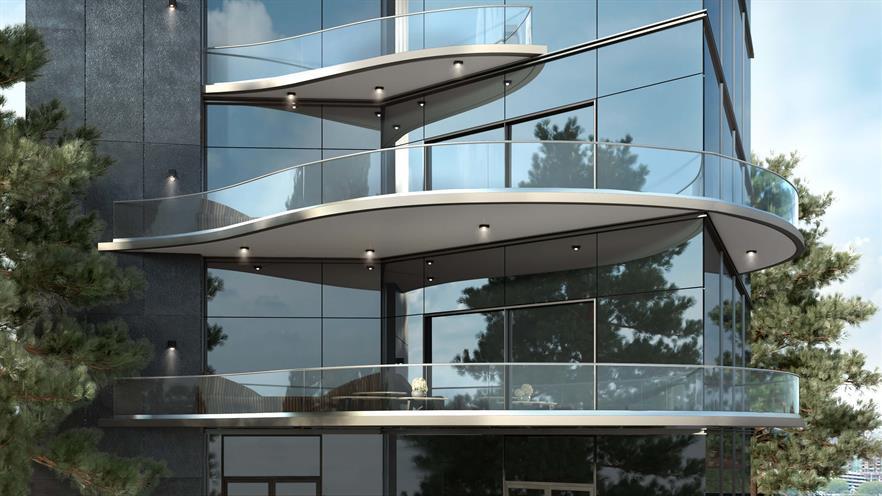 Glassgeländer und Aluminium Systeme
