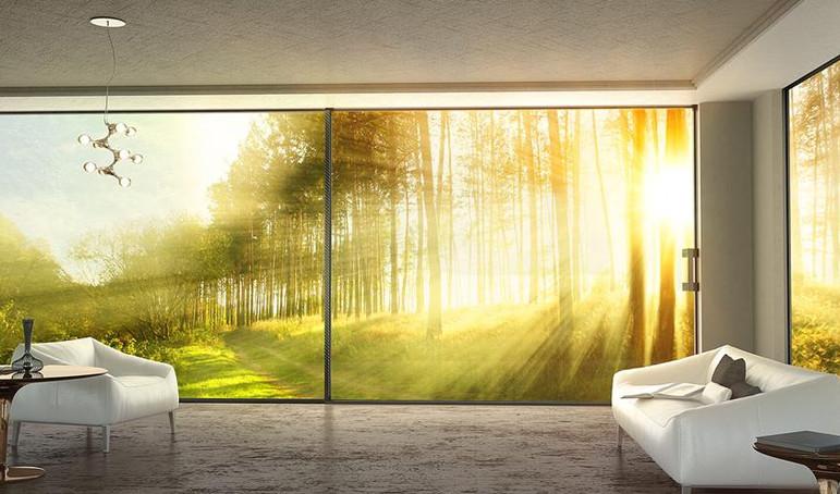 Rahmenlose Schiebe und Fenstersysteme
