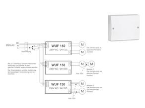 230V Ansteuerungsmodul für 24V Antriebe max. 5 Amp.