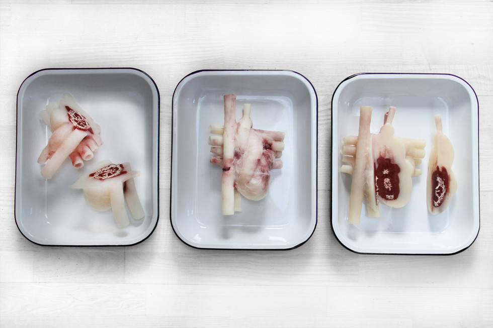 "Andrew Carnie, ""A Strange and Dark Preparation, 2015, soap, 20cm x 20cm x 20cm"