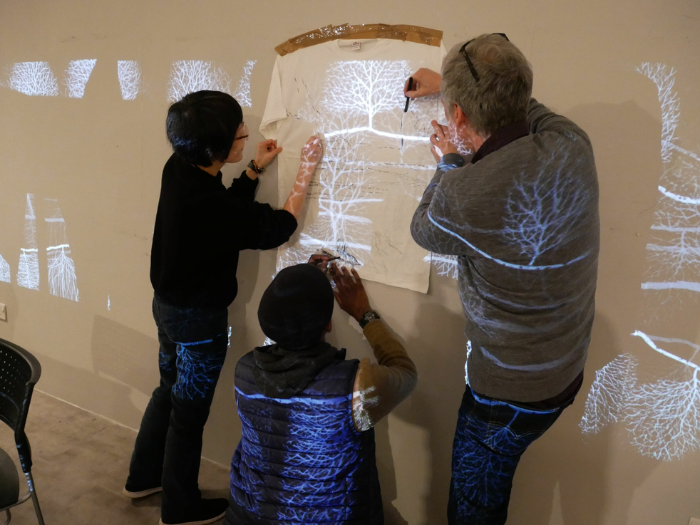 Andrew Carnie, Winter Tree Seminar, Installation view, multi media, size variable, 2015