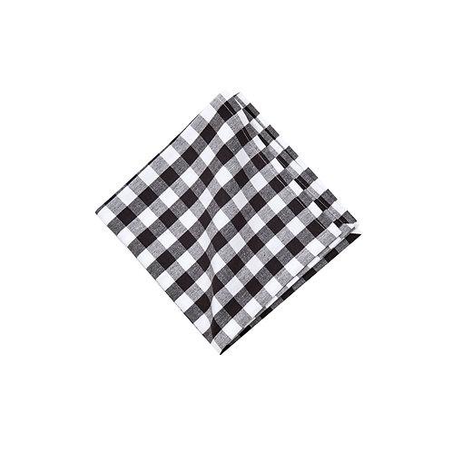 Black Check Cotton Napkin