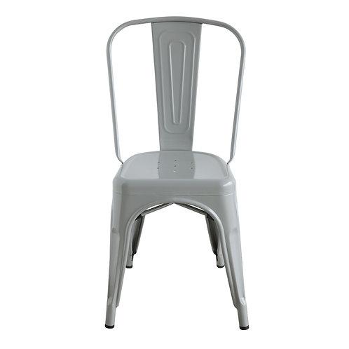 Grey Metal Bistro/ Kitchen Chair