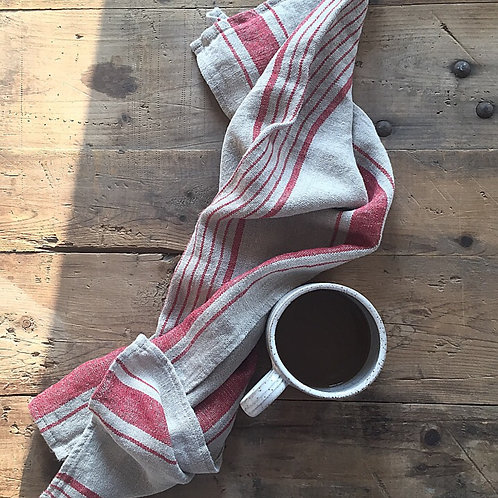 Natural/Red Teatowel by Harmony