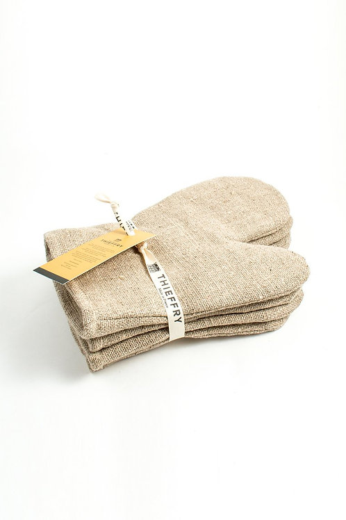 Traditionally Crafted Thieffry Belgian Linen Oven Mitt