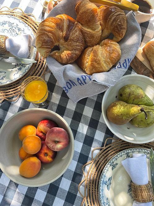 Bon Appetit Linen Napkin (Lin/Bleu)