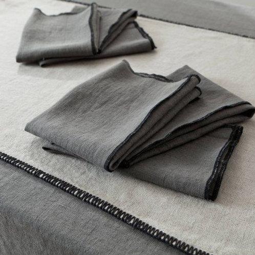 Dark Grey Linen Napkin