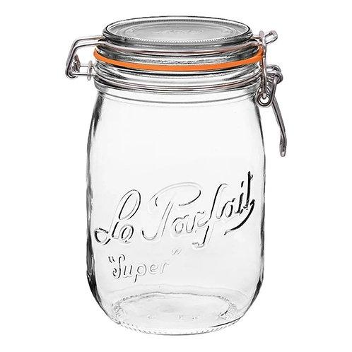 Le Parfait Rounded Glass Storage Jar 1L
