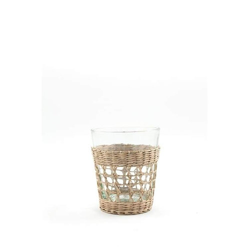 French Seagrass Glass Tumbler