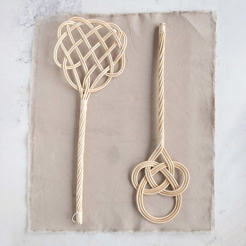 Hand-Woven  Traditional Rattan Carpet Beater