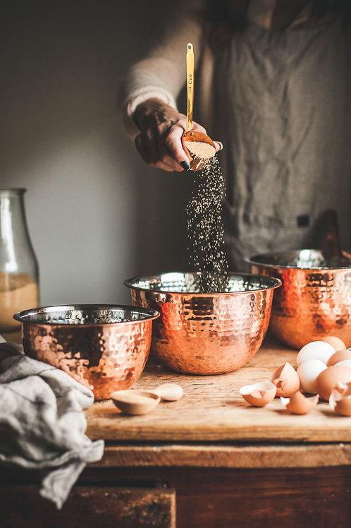 Copper Mixing Bowl Set (Set of 3)
