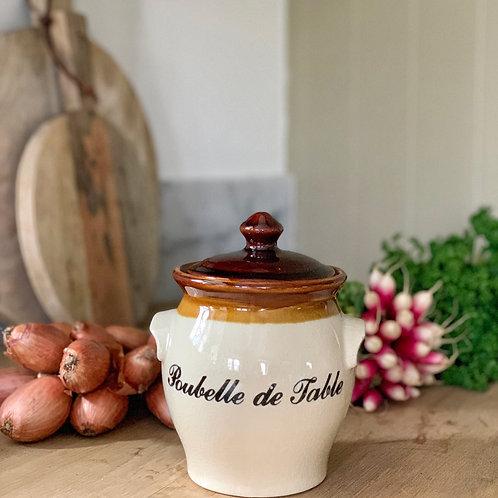 Vintage French Poubelle De Table Jar