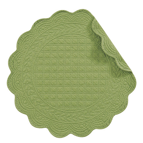Meadow Green Quilted Placemat