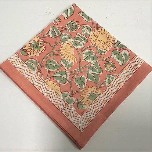 Sunflower Block Print Napkin