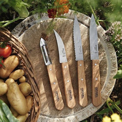 Opinel Les Essentiels Du Cuisinier -Natural Wood  Box Set