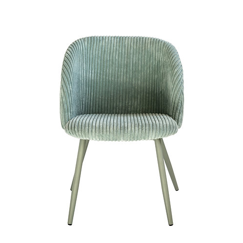 Childs Mint Green Corduroy Chair