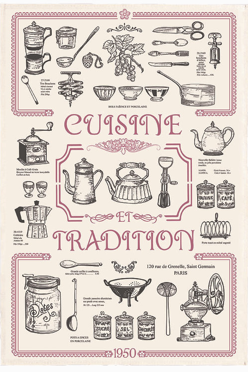 Cuisine et Tradition Tea Towel