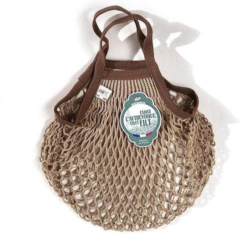 Filt Mini Bag (Beige & Brown Trim)