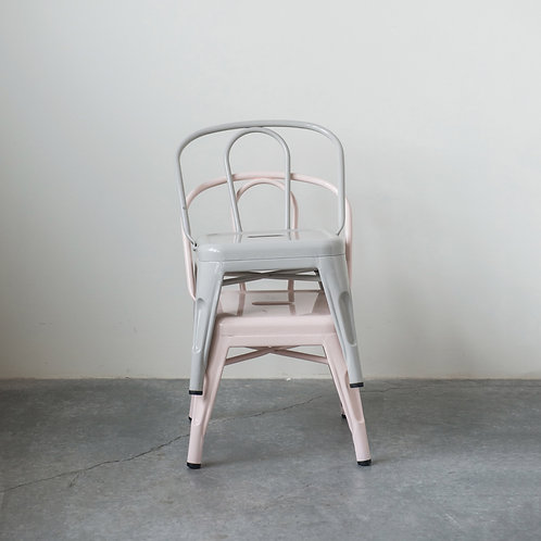 Childs Pink Metal Chair