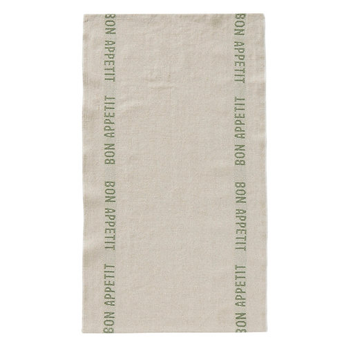 Bon Appetit Linen Tea Towel - Lin/Kahki