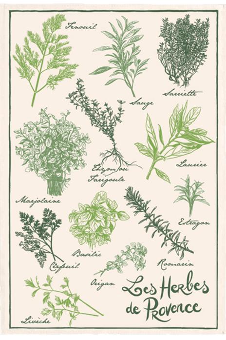 Les Herbes de Provence Tea Towel
