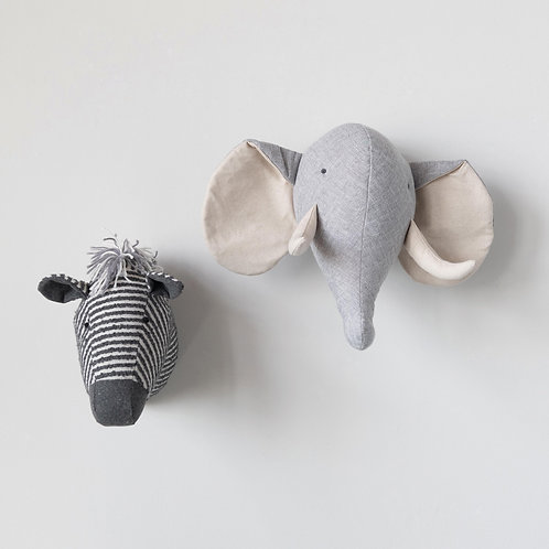 Linen Blend Elephant Wall Decor