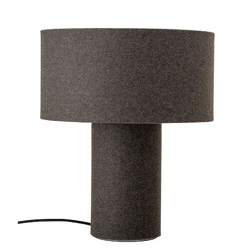Set of 2 Grey Wool Blend Lamps