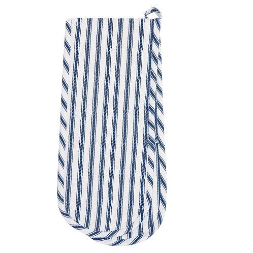 Blue Ticking Stripe Oven Mitt