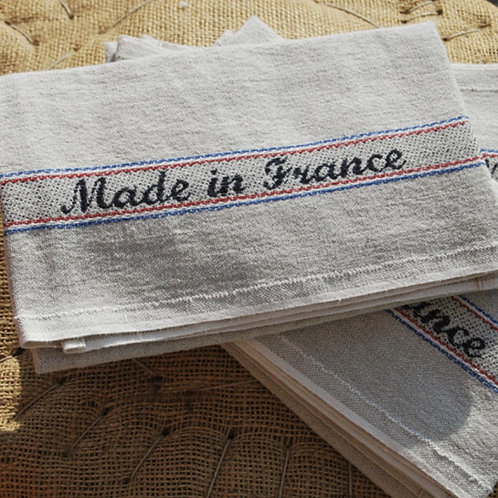 Made in France Cotton/ Linen Blend Tea Towel
