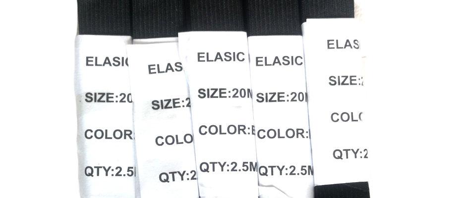 Elastiques plats 20mm 12.5m