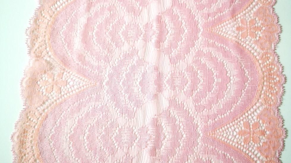 dentelle de calais large rose de grossiste mercerie