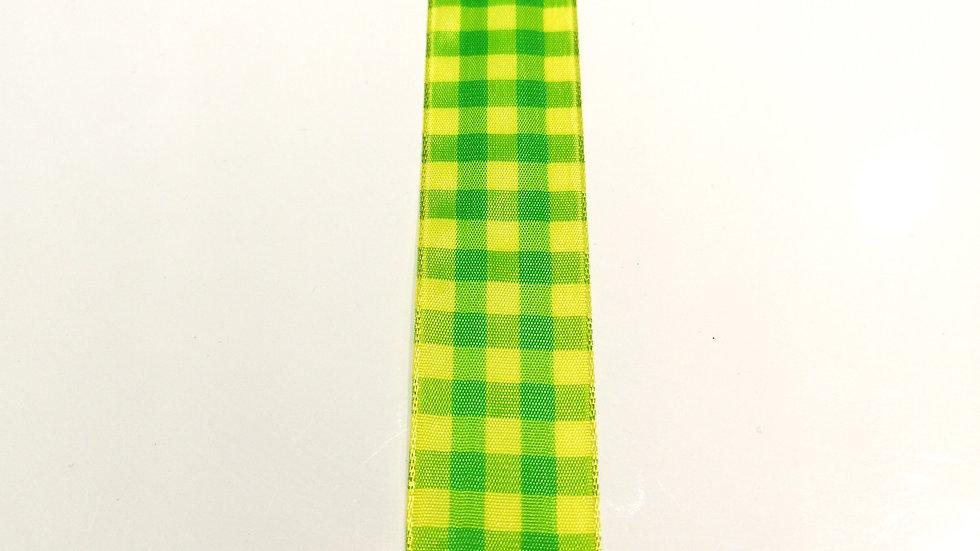 ruban jaune et vert