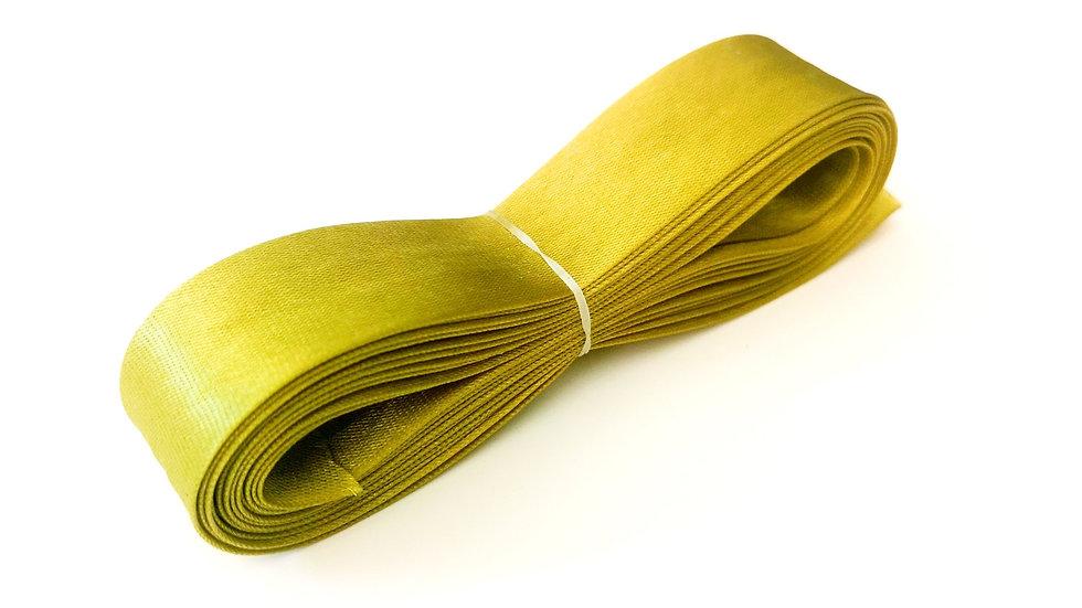 Biais de mercerie en satin jaune