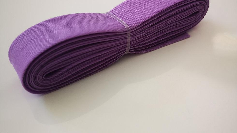 Biais de mercerie violet en polycoton .