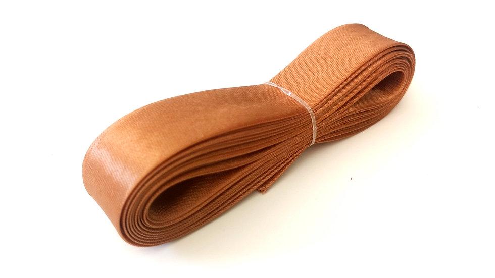 biais satin marron mercerie marron