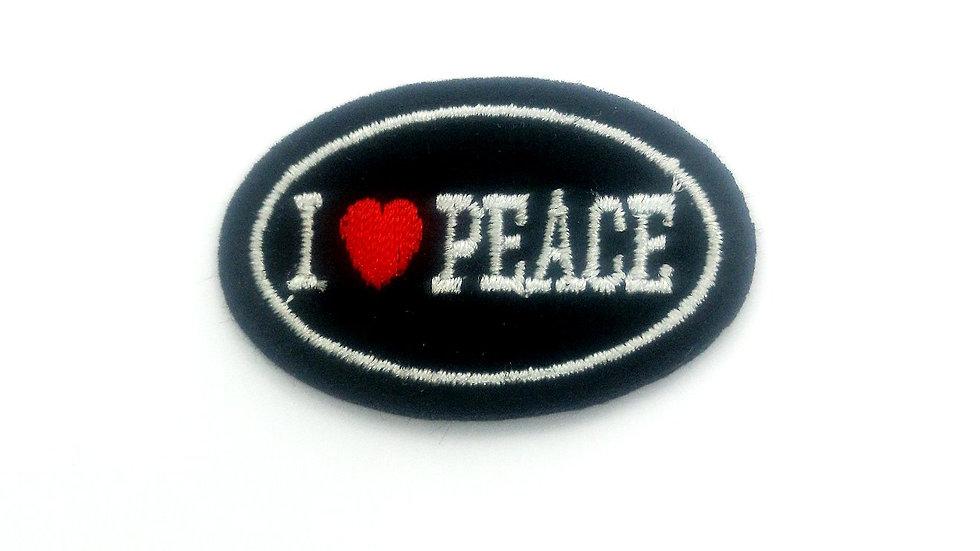 ecusson thermocollant mercerie i love peace