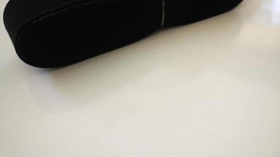 Biais de mercerie noir en polycoton .