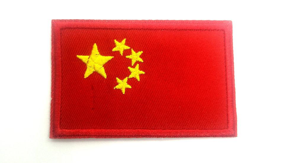 Ecusson thermocollant drapeau chinois