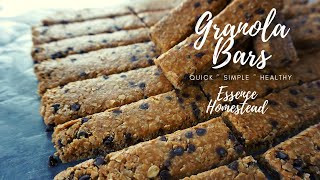 DIY Granola Bars ~ You know, if the store runs out....